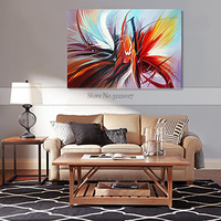 Canvas painting wall art canvas Quardro Transparent flowers Decoration Home Decor Art Picture handpainted Canvas framed wall art