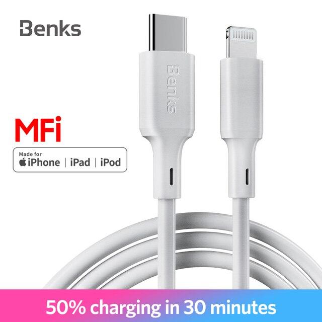 Benks M13 MFi PD кабель USB C к Lightning питания Тип C Быстрая зарядка кабель для iPhone X/XS/XR/XS Max/8/Plus/iPad Pro