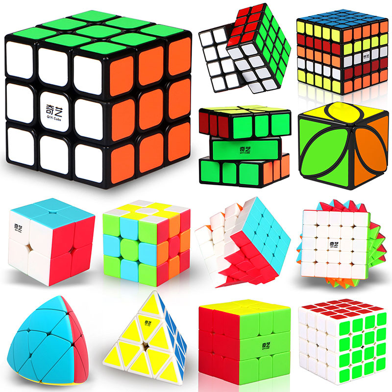 2x2 3x3 4x4 5x5 Original Qiyi Professional Speed Cube Cubo Magico Cubes Puzzle  Educational Toys For Children Toys For Adults