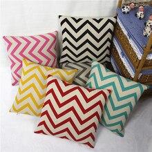 Наволочка для подушек серии Wave из полиэстера, льняная подушка для поддержки поясницы, домашняя декоративная подушка, подходит под заказ 45*45 см 60*60 см