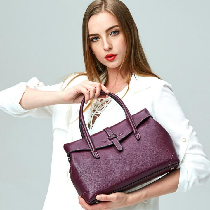 2017 Fashion New Wholesale Women Ladies Real Soft Genuine Leather Handbag Tote Shoulder Bags Messenger Purse Cross Body Satchel real genuine leather women single shoulder bag small cross body satchel ladies messenger bags famous brand cowhide tote handbag