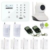 SMS Remote Monitor Android/IOS APP GSM Alarmsysteem K9 Draadloze Home Alarmsysteem + WIFI HD IP Camera GSM Camera W12K