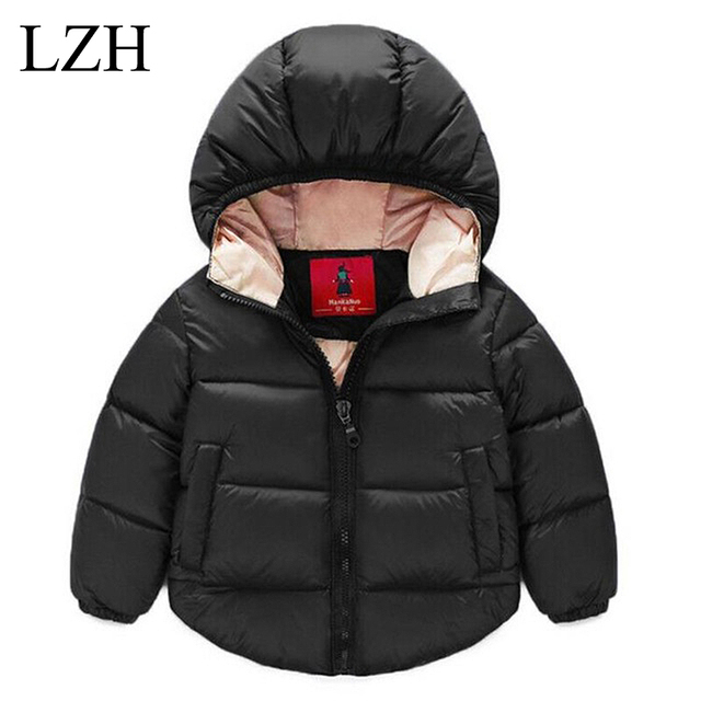 2016 Baby Boy Coat & Baby Girl Jacket Kids Warm Winter Long Sleeve Jacket Outerwear Pure Color Hooded Jacket Children's Clothes