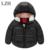2016 Jaqueta Casaco Bebê Menino & Da Menina Do Bebê Crianças Quente inverno Manga Longa Outerwear Jaqueta Cor Pura das Crianças Jaqueta Com Capuz roupas