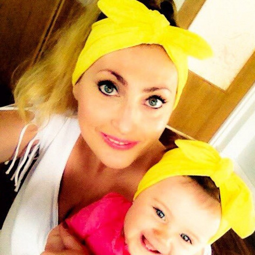baby turban printing parent-child model bow tie elastic hair band adult children rabbit ears printing headband 1 pc women fashion elastic stretch plain rabbit bow style hair band headband turban hairband hair accessories
