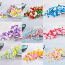 10g 60pcs 15mm Mix Colors Pompom Lovely Fur Pompones Ball Craft DIY Soft Pom Poms Wedding