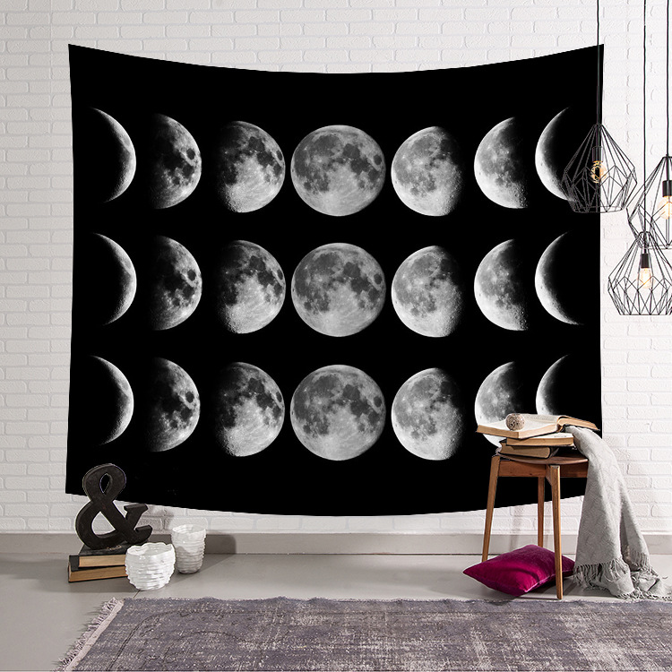 New Home Decor Hanging Living Printing Wall Tapestry Cartoon Cat Moon Star Night Tapestry Fantasy Decoration Wall Carpets