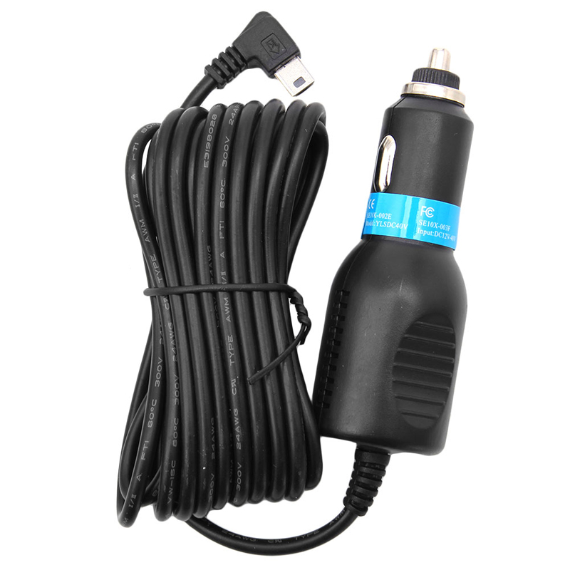 New 2019 arrival DC 5V 2.1A Mini USB Car Power Charger Adapter Cable Cord For GPS Car Camera 3.5m Hot Sale