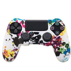 Image 3 - Camouflage Case Graffiti Studded Dots Silicone Rubber Gel Skin for Sony PS4 Slim/Pro Controller Cover Case for Dualshock4