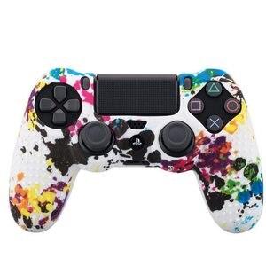 Image 3 - Étui de Camouflage Graffiti clouté points Silicone caoutchouc Gel peau pour Sony PS4 mince/Pro contrôleur housse pour dualshock 4