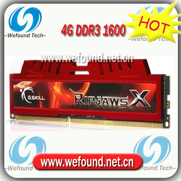 Hot sell! Brand new for G.SKILL DDR3 1600 4G ram for desktop computer overclocking F3-12800CL9S-4GBXL