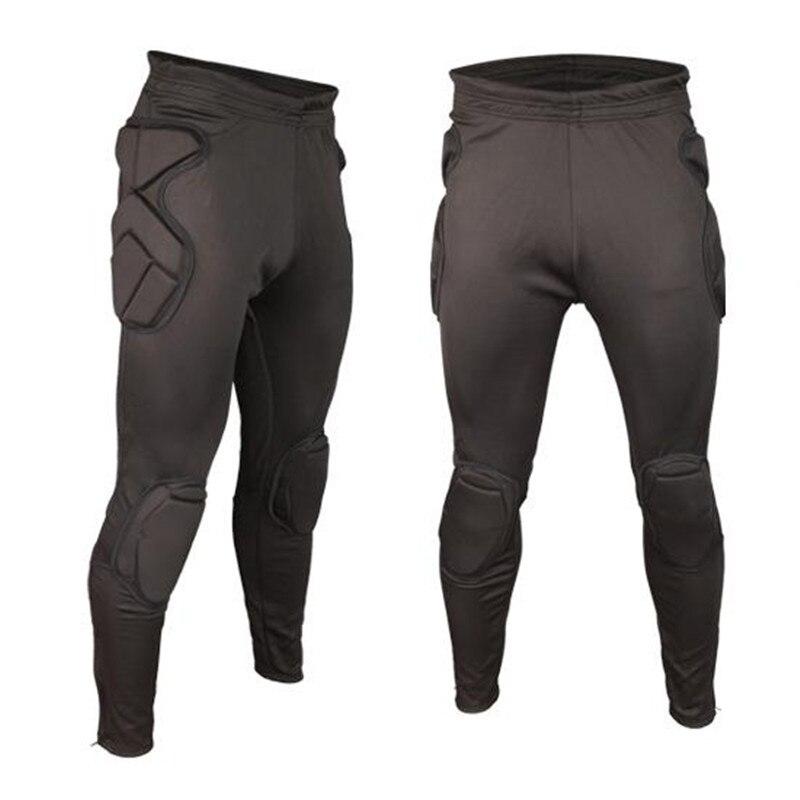 Professional Soccer Training Pants Sports Goalkeeper Kits Men EVA Sponge Slim Skinny Football Goal Keeper Shorts kneepad Protect