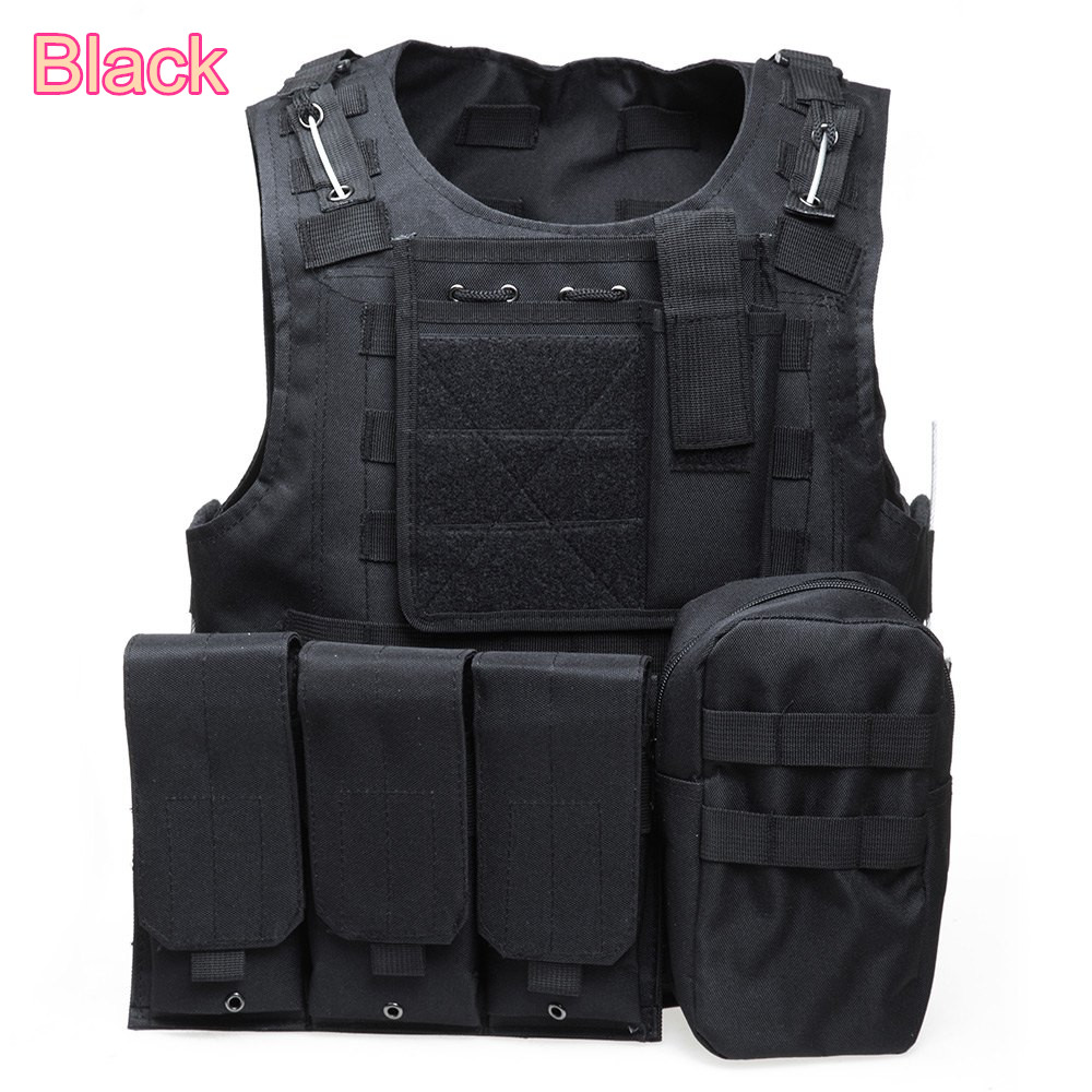 1pc Camo Paintball Airsoft Armour Tactical Military Combat Assault Vest Multi Pockets Training Hunting Waistcoat Safety Clothing tactical hunting airsoft paintball hunting combat assault vest outdoor training hunting waistcoat military vest safety clothing