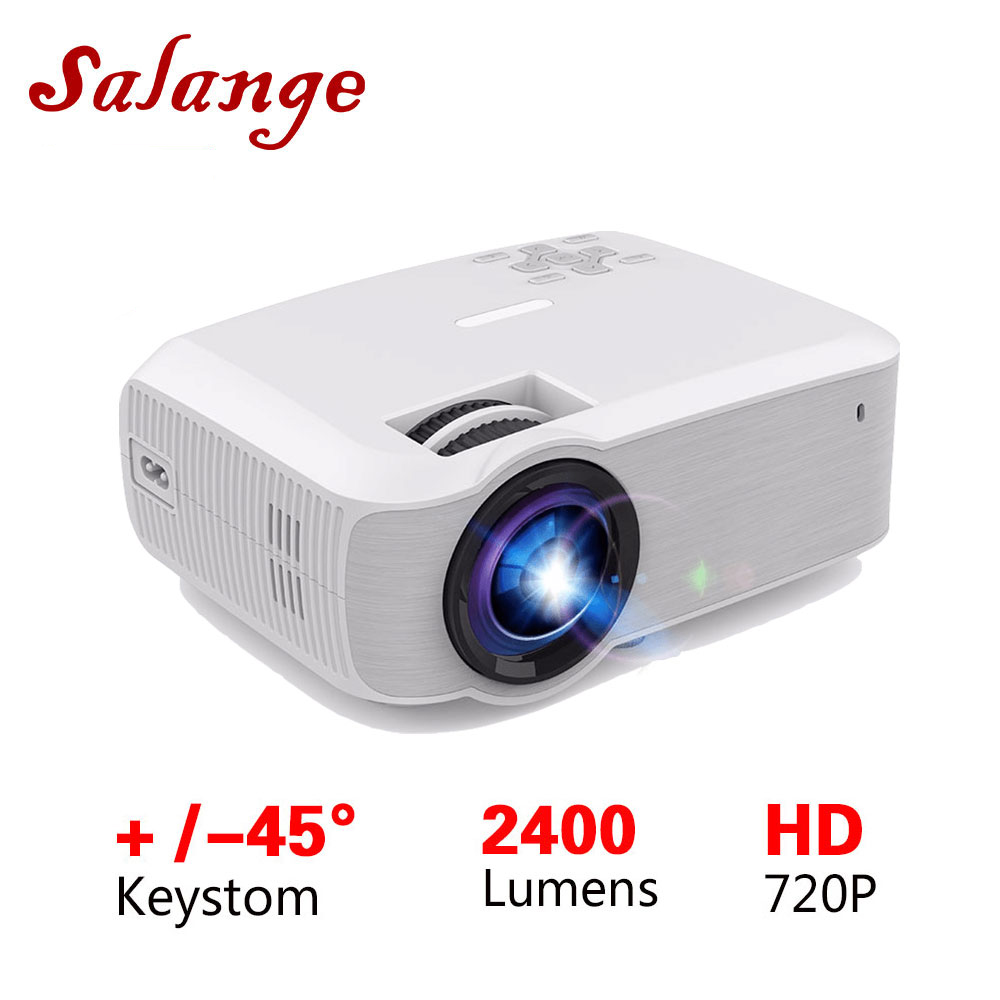 Salange T23K Mini LED Projector 2400 Lumens 1280 720 Video Beamer HDMI VGA USB Home Theater