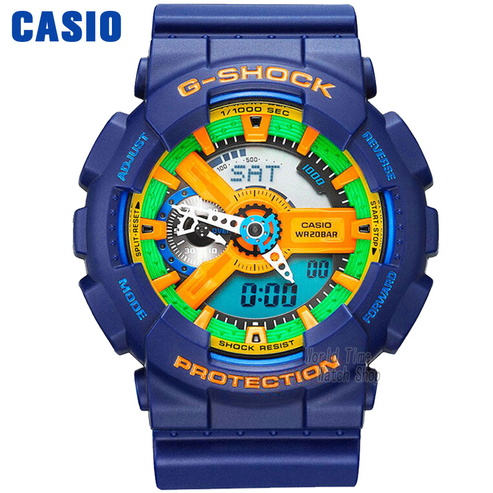Casio watch large dial outdoor sports waterproof male table GA-110FC-2A casio watch multi function shockproof waterproof sports electronic watch male watch ga 100cm 4a ga 100cm 5a ga 100cm 8a