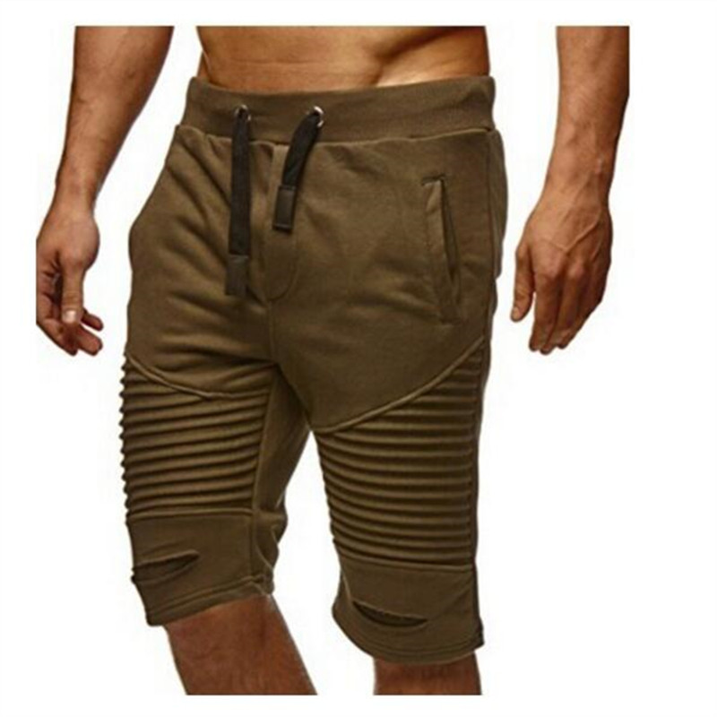 shorts men shorts fitness elastic tie pockets trade stripe shorts men ...