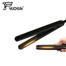 YUCHUN Electronic Ceramic Fast Hair Straightener Portable Mini Hair Flat Iron for Dry Wet Hair Straightening Irons Comb Brush