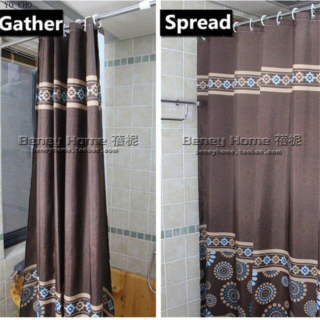 [150 Cm] Moderne Kaffee Farbe Polyester Wasserdicht Badezimmer Gewebe  Duschvorhang Europa Bad Vorhang Bad Produkte