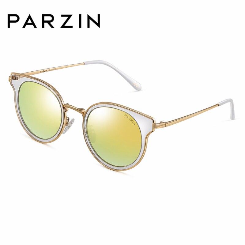 Für yellow Ultra Rahmen Original Sonnenbrille light Polarisierte Black Fahren licht Tr90 Parzin Box Mit Sommer silver 9897 Frauen Pink Marke nxqITFH