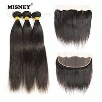 Волосы remy прямая завивка натуральные волосы Реми 3 пучка с фронтальной ручной связкой 4X13 кружева с завязкой натуральные волосы для наращива