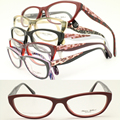 Wholesale RB25618 full-rim cateye front flexi spring hinge bicolor combined alloy temple acetate optical glasses frames