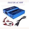 Alta Qualidade 80 W B6AC iMAX B6 AC Lipo NiMH 3 S/4S/5S RC Equilíbrio Carregador de bateria + EUA AU UE UK plug power supply fio
