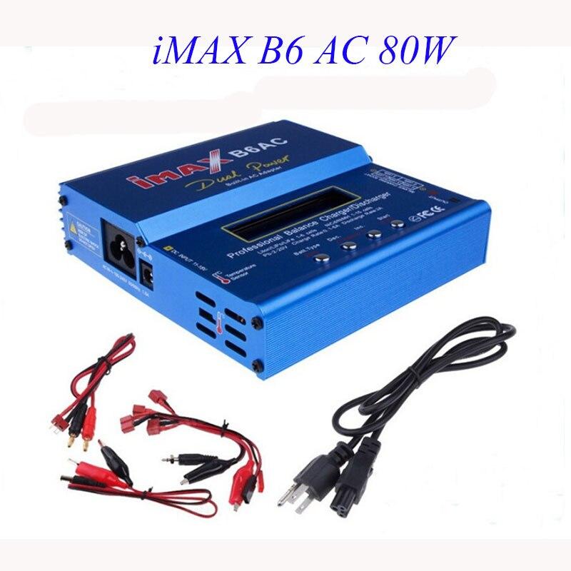 High Quality iMAX B6 AC 80W B6AC Lipo NiMH 3S/4S/5S RC Battery Balance Charger + EU US AU UK plug power supply wire