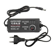 9-В 24 В 3A 72 Вт AC/DC адаптер импульсный источник питания Регулируемый адаптер питания дисплей ЕС штекер высокое качество