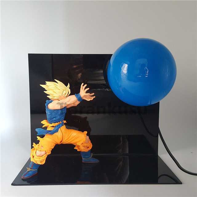 Dragon Ball Z Son Goku Super Saiyan Kamehameha Light Table Lamp