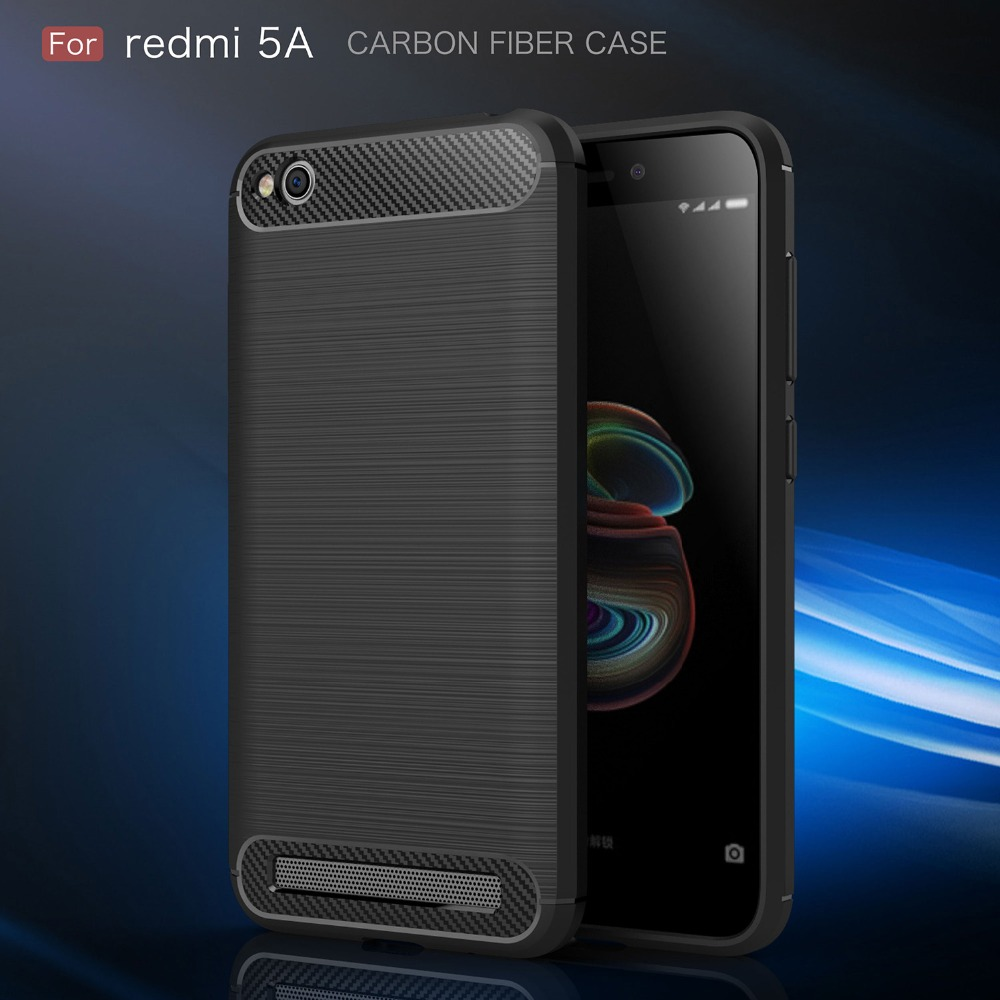 For Xiaomi Redmi 5A Case Carbon Fiber Shockproof Silicone Rugged Armor Back Case for Xiaomi Redmi 5A Cover Ultra Thin Funda in Fitted Cases from Cellphones Telecommunications
