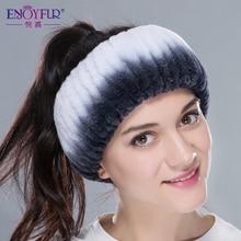 New winter women fur headbands knitted rex rabbit fur neckwear for women real fur headwrap ear warmer 2015  fashion hairband