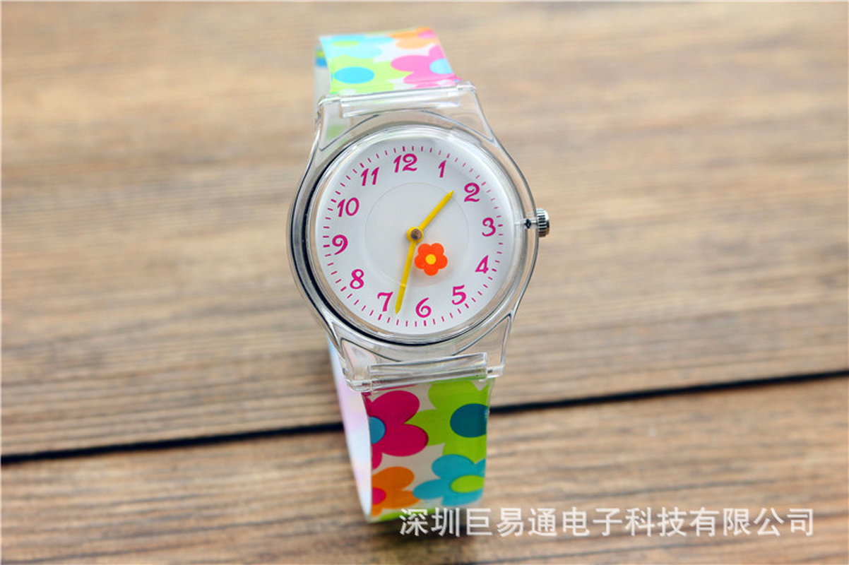 2019 Children Non-toxic Environmental Protection Waterproof Jelly Watch Girls Candy Color Flower Broken Flower Wrist Watch