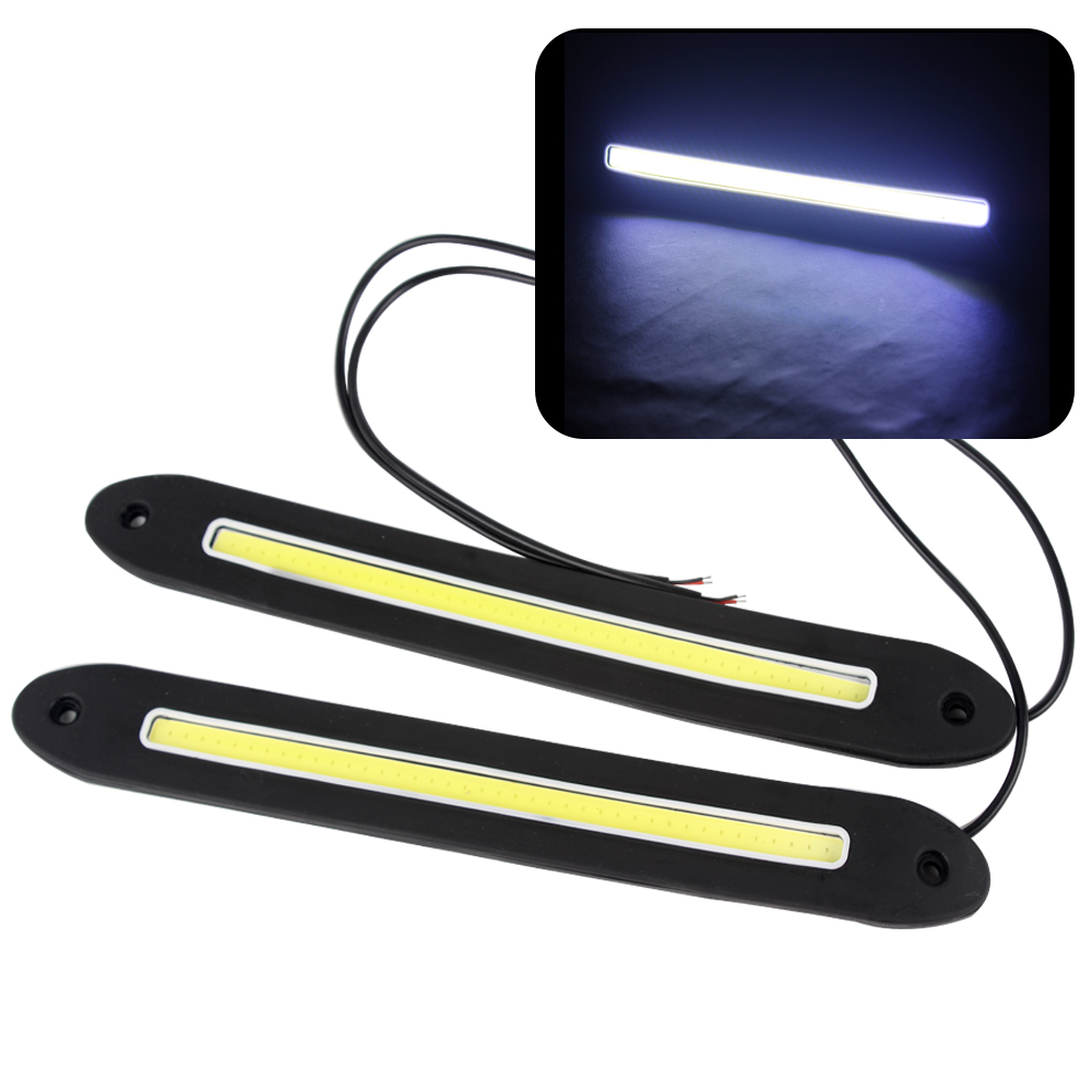 2pcs Universal LED Car Daytime Running Lights DRL Flexible Car Driving Lamps COB LED External Car Light Car Styling Super Bright suprer bright 2pcs 30cm 12v daytime running lights waterproof car drl cob driving fog lamp flexible led strip car styling