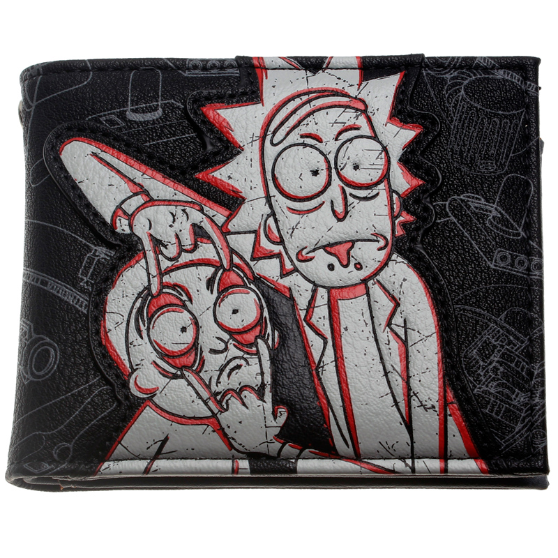 Rick and Morty PU Faux Leather Bifold Wallet DFT-10104