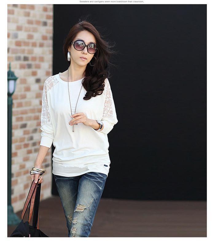 HTB1M4DVNXXXXXawXVXXq6xXFXXXt - Casual Lace Blouse Batwing Sleeve Shirt Women Cotton Clothing