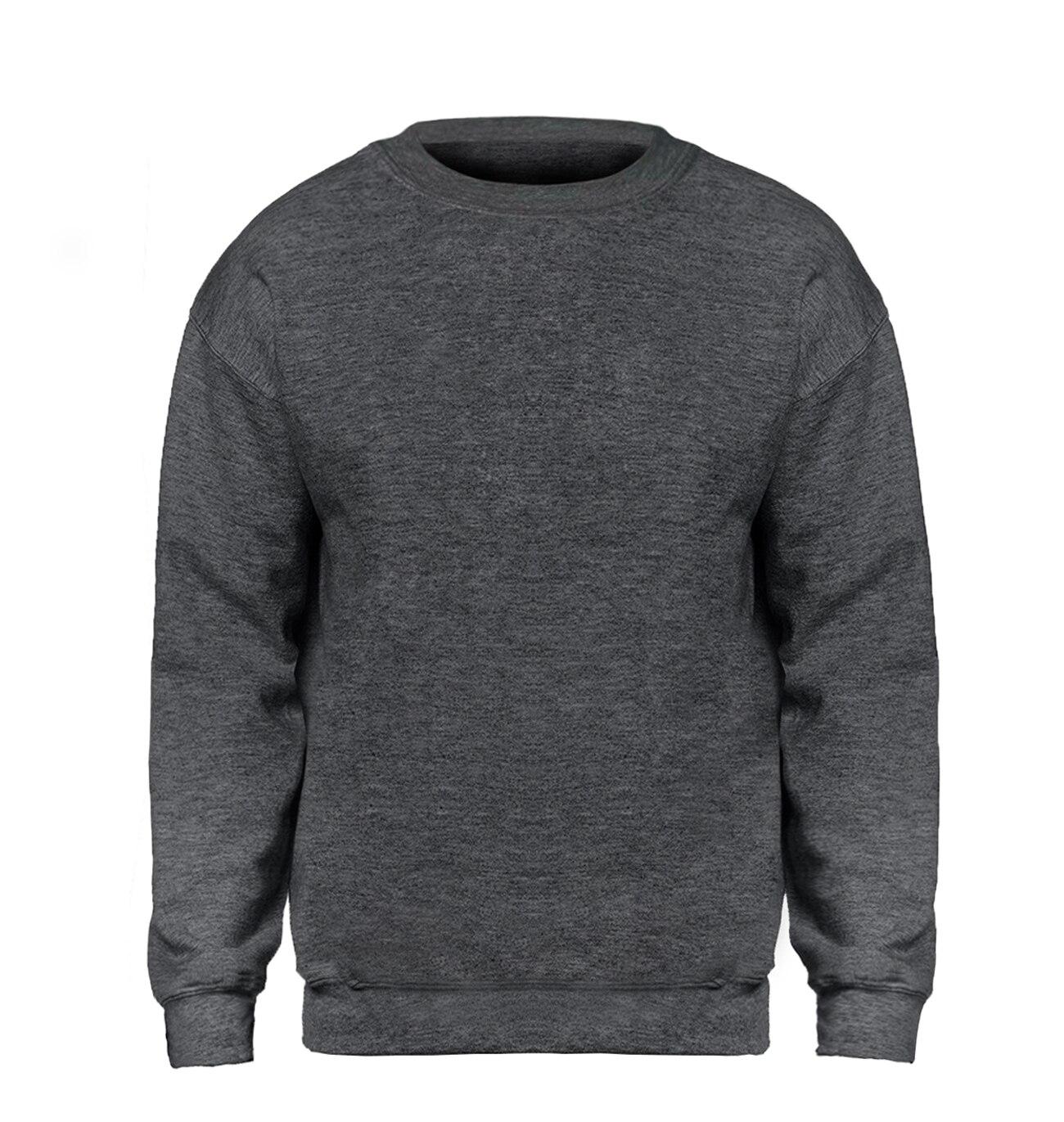 Solid color Sweatshirt Men Hoodie Crewneck Sweatshirts Winter Autumn Fleece Hoody Casual Gray Blue Red Black White Streetwear 23