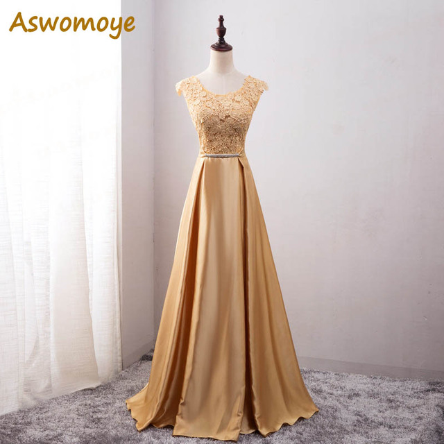 Elegant Evening Dress Long Appliques Banquet Party Dress Stunning Satin Prom Dresses Robe De Soiree vestido de festa
