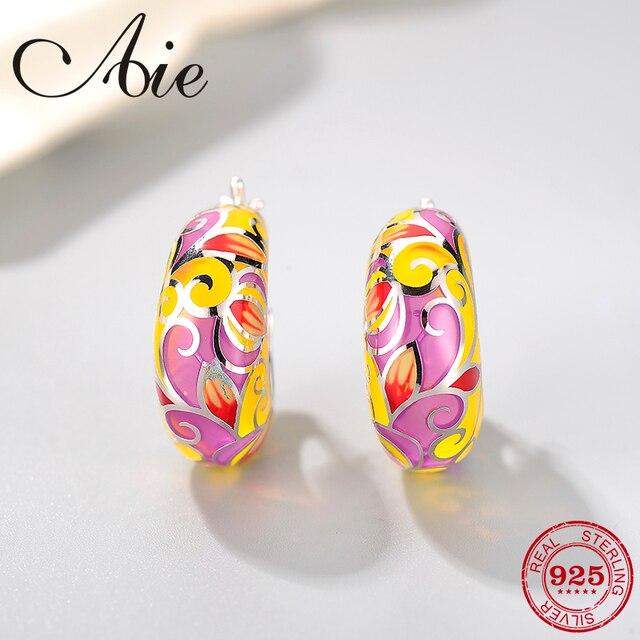 2018 New 925 Sterling Silver like butterfly wings yellow pink Enamel DIY gift fashion luxury Ear clip Party Jewelry