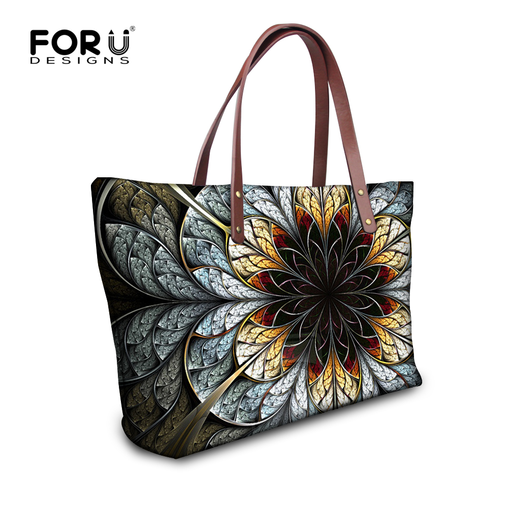 где купить FORUDESIGNS Floral Printed Shoulder Bags Women Large Capacity Female Shopping Bag Summer Ladies Beach Handbag Blosas Feminina по лучшей цене