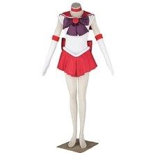 Аниме Сейлор Мун Рей Хино/Сейлор Марс Косплэй костюм на заказ платье для карнавала Halloween Новогодние товары Большие размеры 3XL
