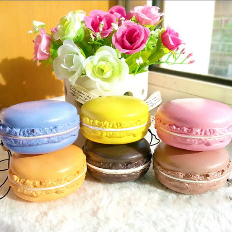 Soft Macaron Dessert Cake Cute Cell phone Straps Pendant DIY Decor Kids Toys Gift Cream Bread Child Toys  P15