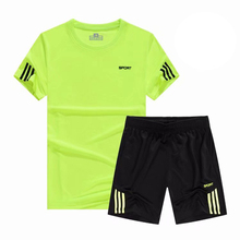 купить Men's Sport Running Suits Quick Dry football Basketball Soccer Training Tracksuits Breathable Sportswear Gym Clothing SET онлайн