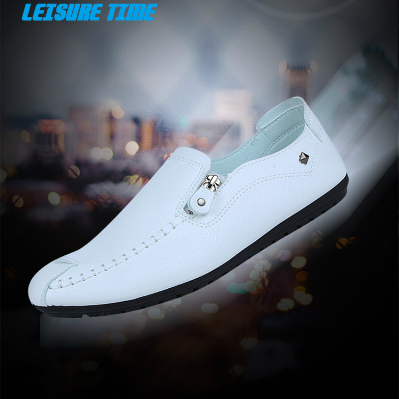 The New Men Fisherman Shoes Fashion Casual Soft Leather Loafers Flats Comfortable Sneakers Can Be Worn Throughout The Year in Men 39 s Casual Shoes from Shoes
