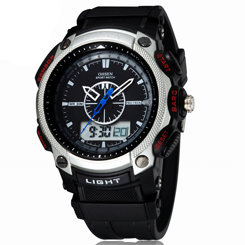 0408cbaa6 Men Outdoor SportS Digital Watch Quartz Analog Waterproof Clocks Hours  Relojes Deportivos Herren Uhren Reloj Hombre Montre Homme