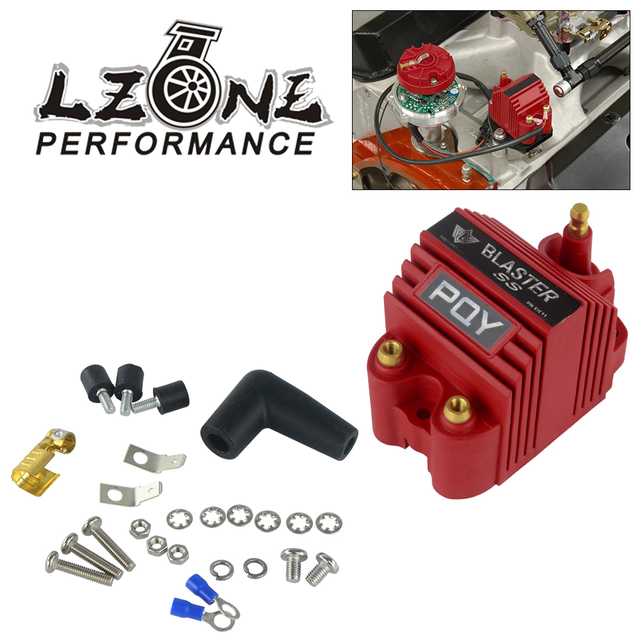 LZONE   Universal Blaster Ss 12V High Output External Male E Core Ignition Coil With Kits Adaptor JR EIC00 K