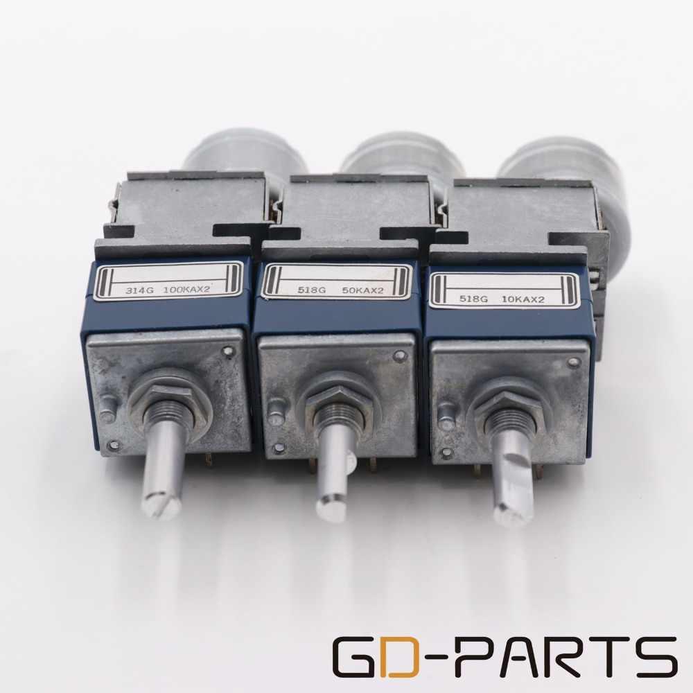 Dual 2*10K 2*50K 2*100K Stereo ALPS RK27 Motorized Potentiometer Remote Volume Sound Control For Vintage Tube AMP HIFI AUDIO DIY