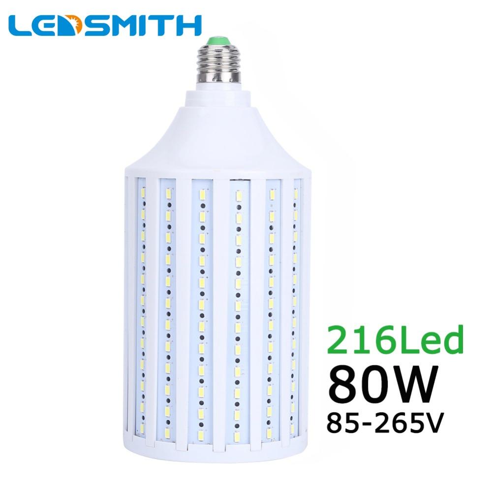 80W LED Bulbs Lamp 5730 5630 SMD E26 E27 B22 E40 216 LEDs Warm white Corn Bulb Pendant Lighting AC85-265V Ceiling corn Light фонарь fenix uc02ss gold