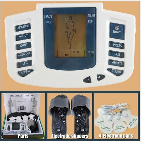 10pcs/lot JR309 Electrical Stimulator Full Body Relax Muscle Therapy Massager,Pulse tens Acupuncture with therapy slipper+ 4pads вентилятор titan tfd 9225gt12z