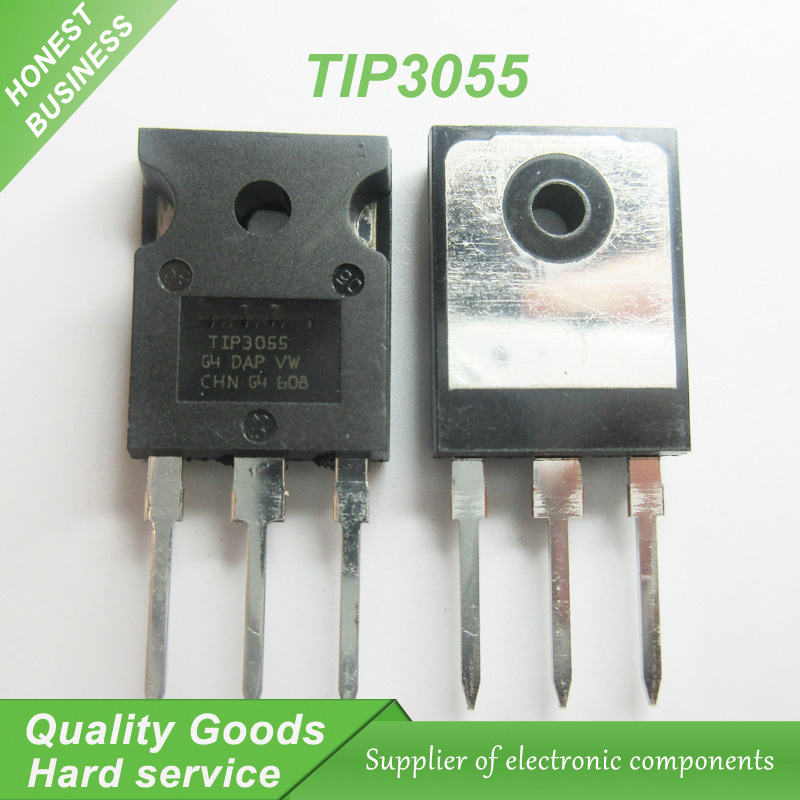 2pcs TIP2955 ST TRANS PNP 60V 15A TO-3P NEW good quality