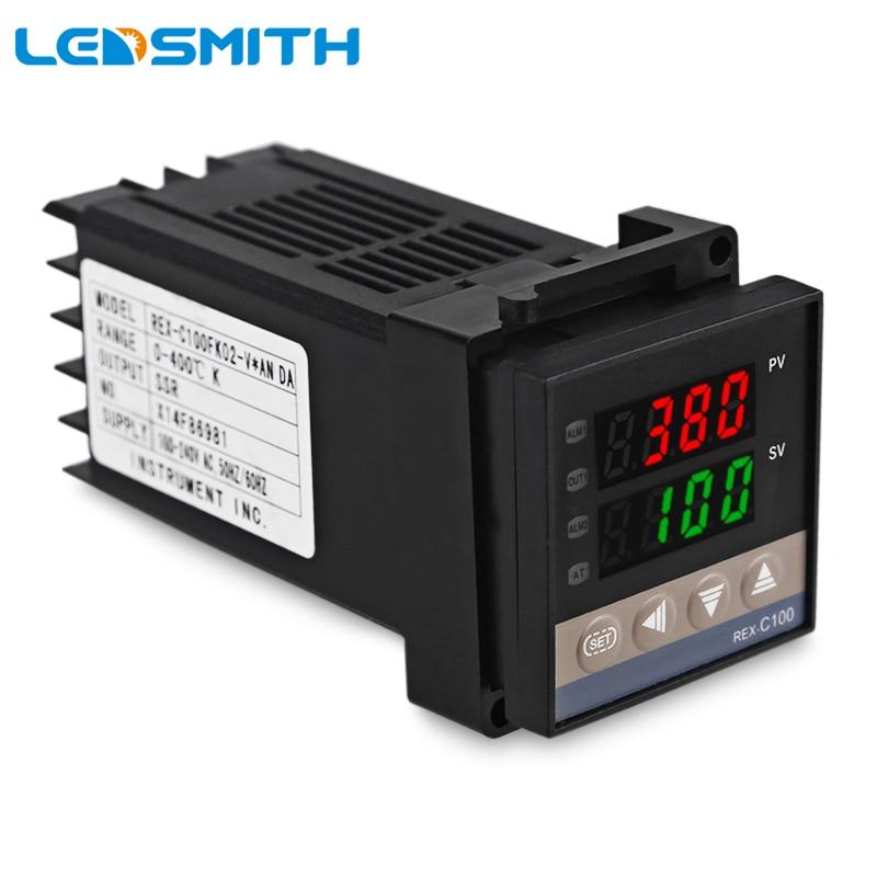 K Thermocouple SSR40DA REX-C100 Dual Digital PID Temperature Controller 220V